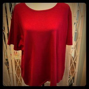 Jones NY red sweater shell